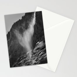 The Ghost. Lauterbrunnen Waterfalls. Alps. Switzerland. Bw Stationery Cards