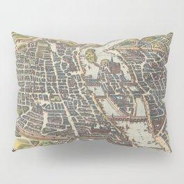 Vintage Map of Paris France (1655) Pillow Sham