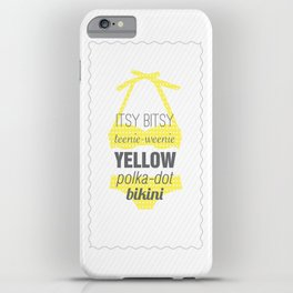 Yellow Polka Dot Bikini iPhone Case