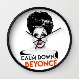 """Calm down Bey!"" Bianca Del Rio, RuPaul's Drag Race Queen Wall Clock"