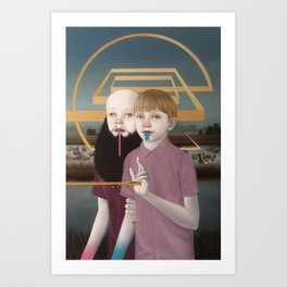 """""""Allegory of Two Nonconsecutive Brothers"""" Art Print"""