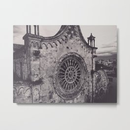 Aerial photography, Ostuni Cathedral, gothic architecture, Roman Catholic Church Metal Print
