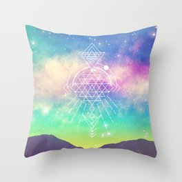 Sacred Geometry (Sri Yantra) Throw Pillow