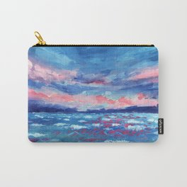 Sea Storm Oil Canvas Carry-All Pouch