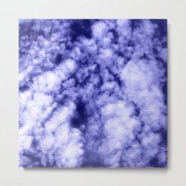 Clouds in a dark blue sky Metal Print
