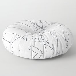 Monstera Illustration 02 Floor Pillow