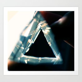 triangle light Art Print