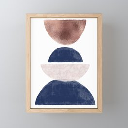 Semicircle Geometric II Art Print Framed Mini Art Print