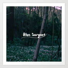 Blue Sargent Art Print
