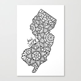 New Jersey Mandala Canvas Print
