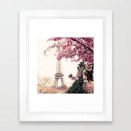 Paris in April, April in Paris Framed Art Print