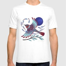 Flying Fish White MEDIUM Mens Fitted Tee