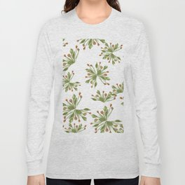 rose hip floral print Long Sleeve T-shirt