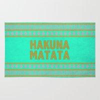 hakuna Area & Throw Rugs featuring Hakuna Matata by M Studio