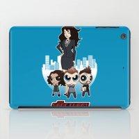 powerpuff girls iPad Cases featuring Powerpuff Sanctuary by squidesign