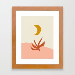Waxing Crescent Moon Framed Art Print