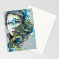 cameleon by carographic Stationery Cards
