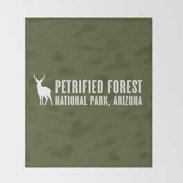 Deer: Petrified Forest, Arizona Throw Blanket