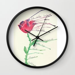 Rose with Emma Goldman quote Wall Clock