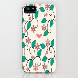classic floral pattern iPhone Case