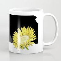 kansas Mugs featuring Kansas Silhouette by Ursula Rodgers