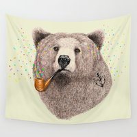 sailor Wall Tapestries featuring Sailor Bear by dogooder