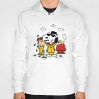 peanuts Hoodies featuring Breaking Peanuts by Maioriz Home