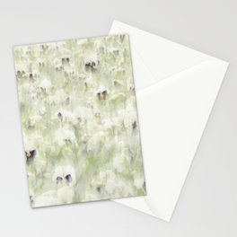 Pansy Field Floral Pattern III Stationery Cards