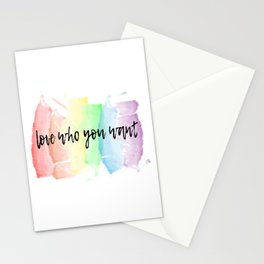 love who you want Stationery Cards