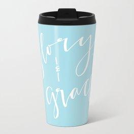 Glory and Grace // Blue Travel Mug