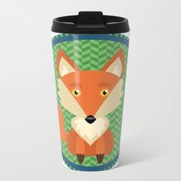 Fox Patch Metal Travel Mug