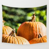 vegetable Wall Tapestries featuring  autumn vegetable by Karl-Heinz Lüpke