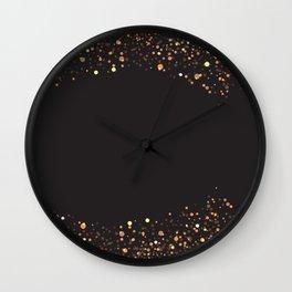 Black and gold #society6 Wall Clock