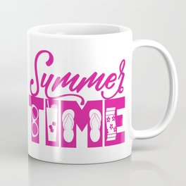 Summer TIME at the Pool Pink Coffee Mug