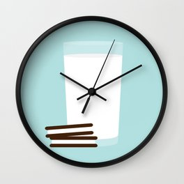 #25 Milk and Cookies Wall Clock