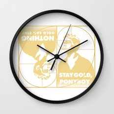 Stay (Nothing Gold Can Stay) Ponyboy Wall Clock
