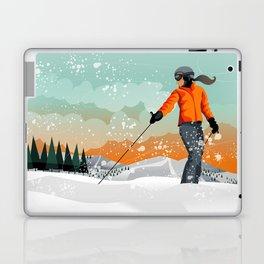 Skier Looking Laptop & iPad Skin