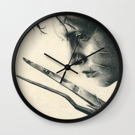 Edward Scissorhands ~ Johnny Depp Traditional Portrait Print Wall Clock