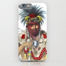 Ne-Sou-A Quoit, a Fox chief iPhone Case