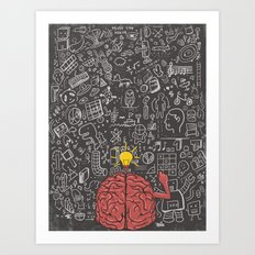 My Brain Won't Stop Art Print