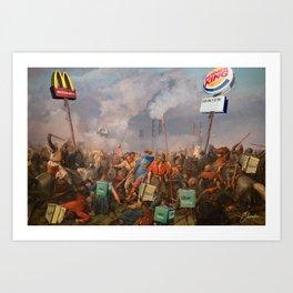 The battle of Stamford Brige Art Print