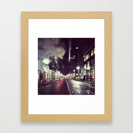 Manhattan Midtown at Night Framed Art Print