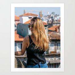 Laia in Porto Art Print