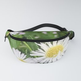 Wild Flora Daisy's getting a visit from a small bee Fanny Pack