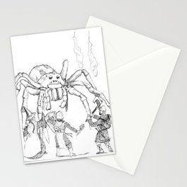 Spider Fight Stationery Cards