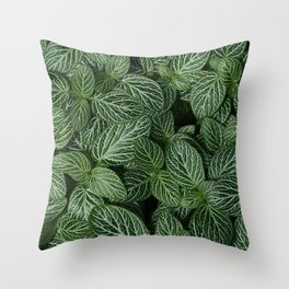 Leafy Abstract Throw Pillow