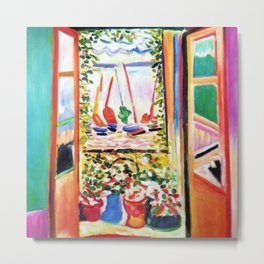 The Open Window Coastal - Floral and Maritime Collioure oil painting by Henri Matisse oil paint Metal Print