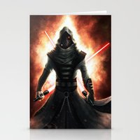 dark side Stationery Cards featuring Dark side by Michele Frigo