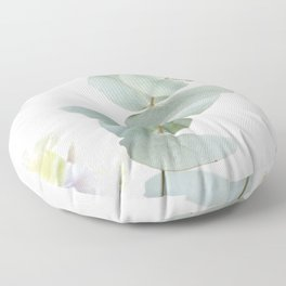 Gentle Soft Green Leaves #1 #decor #art #society6 Floor Pillow