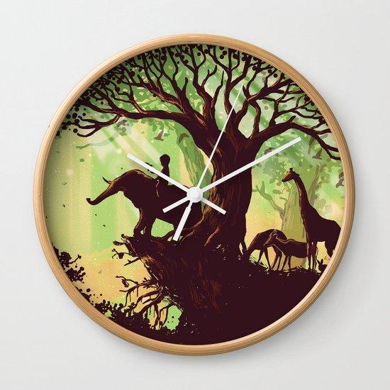 The jungle says hello Wall Clock